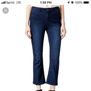 Rachel Roy Dolly Crop Flare Midrise 29 Jeans